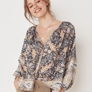 Spell & The Gypsy Oasis Blouse in Nightshade